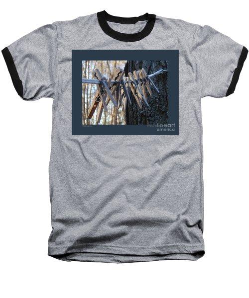 Clothespins Baseball T-Shirt