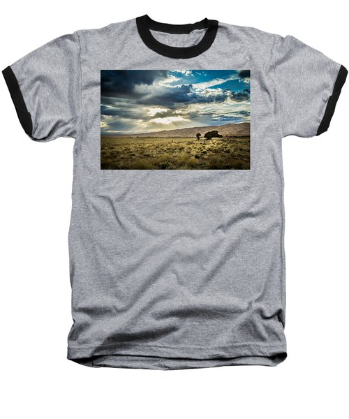 Cloud Break Over Sand Dunes Baseball T-Shirt