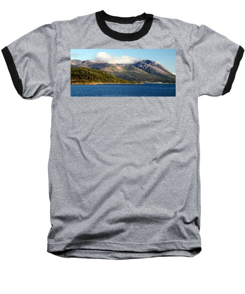 Cloud-capped Mountains Baseball T-Shirt