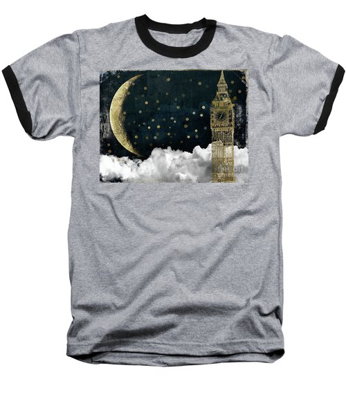 Cloud Cities London Baseball T-Shirt by Mindy Sommers