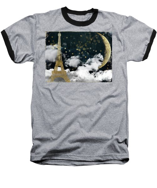 Cloud Cities Paris Baseball T-Shirt by Mindy Sommers