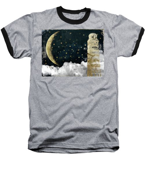 Cloud Cities Pisa Italy Baseball T-Shirt by Mindy Sommers