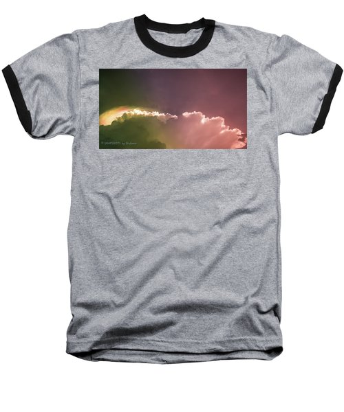 Cloud Eruption Baseball T-Shirt