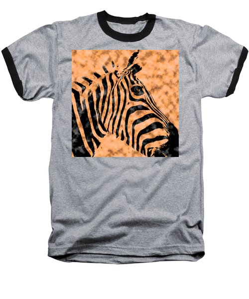 Cloud Face Zebra Baseball T-Shirt by Bartz Johnson