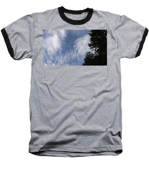 Cloud Fingers Baseball T-Shirt by Don Koester