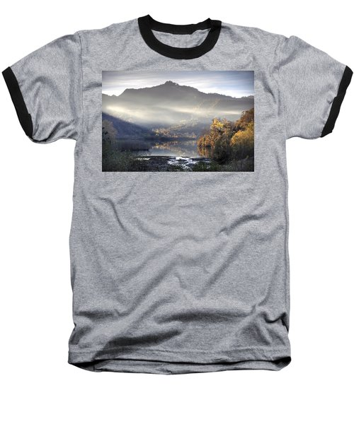 Mist In The Evening Baseball T-Shirt by Gouzel -