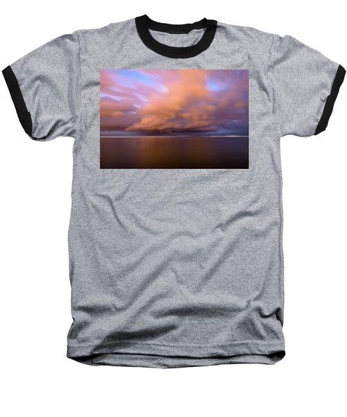 Cloud Motion At Dawn  Baseball T-Shirt