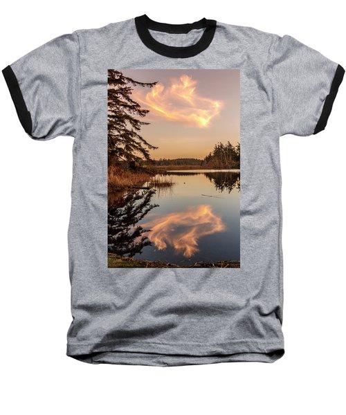 Cloud On Cranberry Lake Baseball T-Shirt by Tony Locke