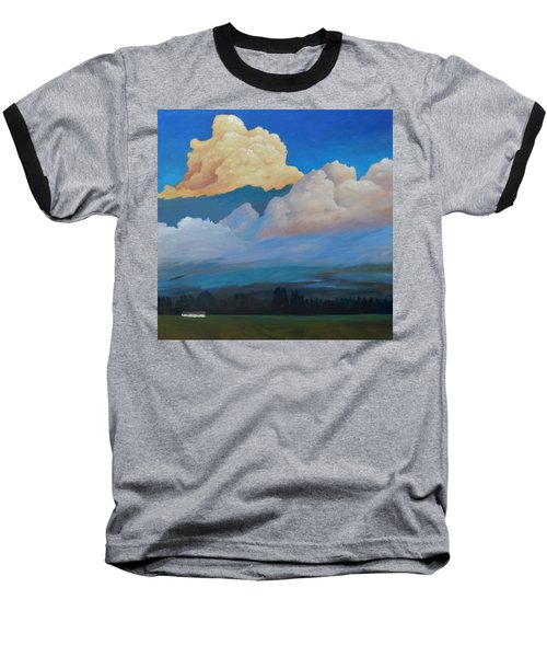 Baseball T-Shirt featuring the painting Cloud On The Rise by Gary Coleman