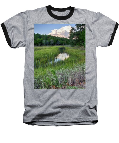 Cloud Over Marsh Baseball T-Shirt by Patricia Schaefer