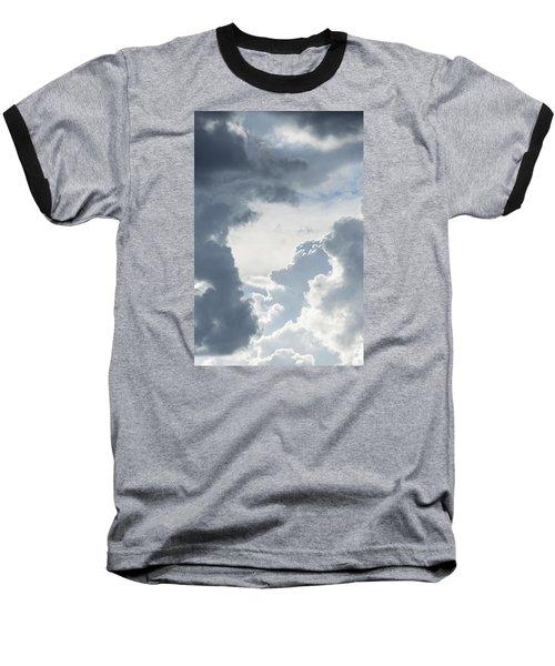 Cloud Painting Baseball T-Shirt by Laura Pratt
