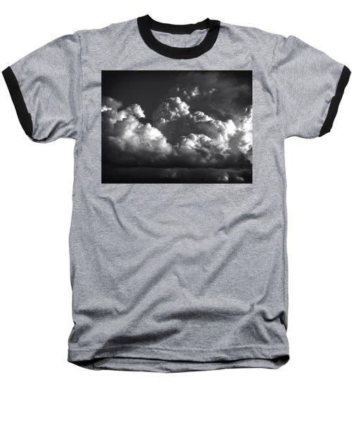 Cloud Power Over The Lake Baseball T-Shirt by John Norman Stewart