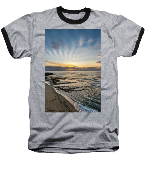 Cloud Rays Vertical Baseball T-Shirt