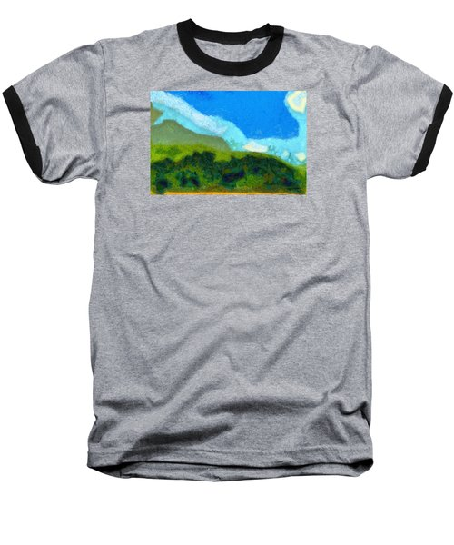 Baseball T-Shirt featuring the painting Cloud River by Spyder Webb