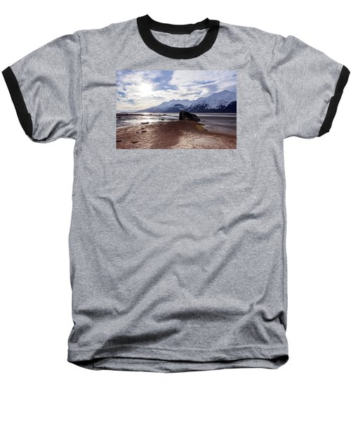 Cloud Shadows At Low Tide. Baseball T-Shirt by Michele Cornelius