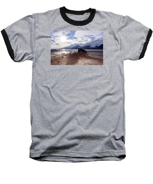 Cloud Shadows At Low Tide. Baseball T-Shirt