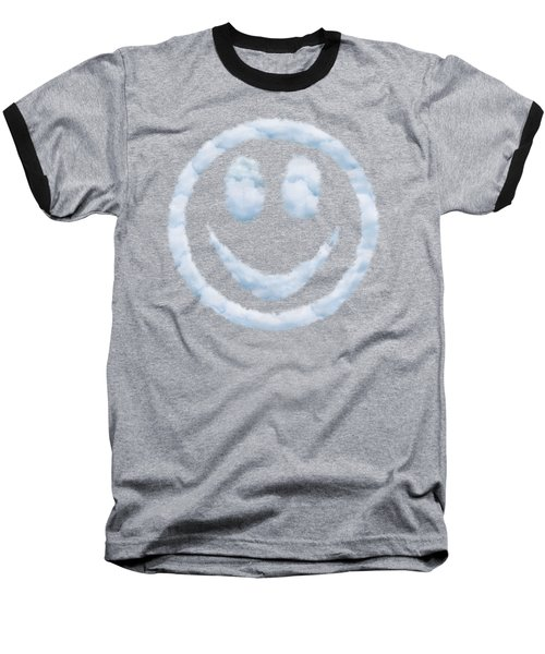 Cloud Smiley Baseball T-Shirt