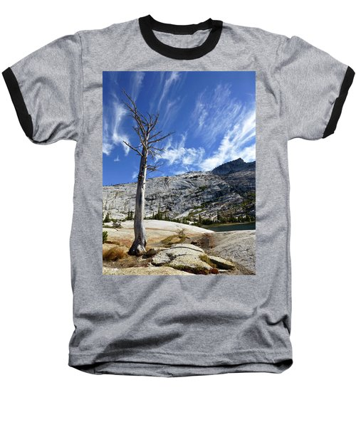 Cloud Stretch Lower Cathedral Lake Baseball T-Shirt by Amelia Racca