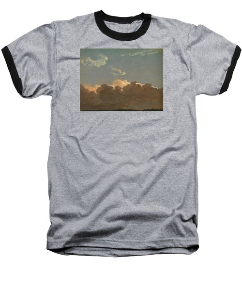 Baseball T-Shirt featuring the painting Cloud Study. Distant Storm by Simon Denis