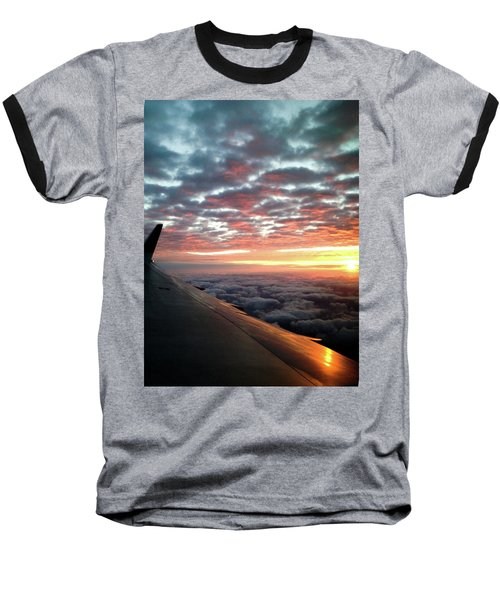 Cloud Sunrise Baseball T-Shirt