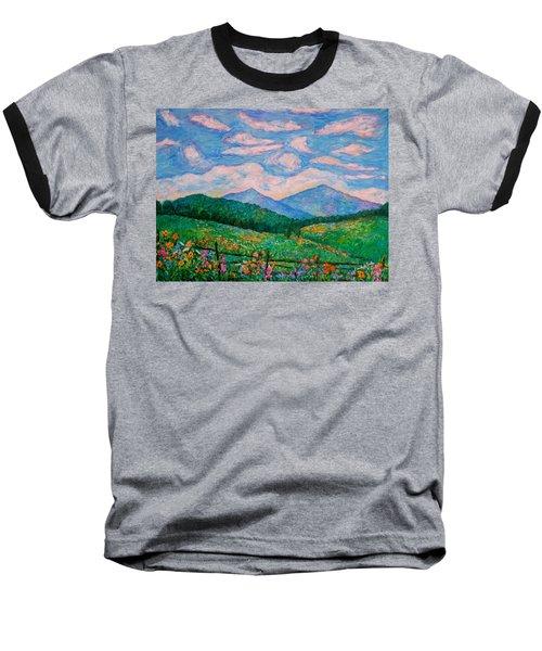 Cloud Swirl Over The Peaks Of Otter Baseball T-Shirt