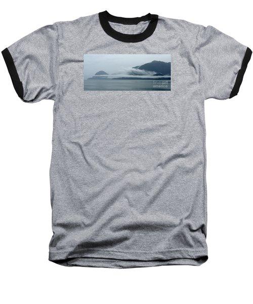 Cloud-wreathed Coastline Inside Passage Alaska Baseball T-Shirt