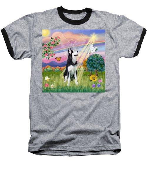 Cloudangel #1 - Siberian Husky Baseball T-Shirt