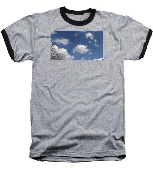 Cloudbank 3 Baseball T-Shirt by Don Koester