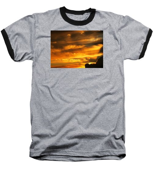 Clouded Sunset Baseball T-Shirt by Kyle West