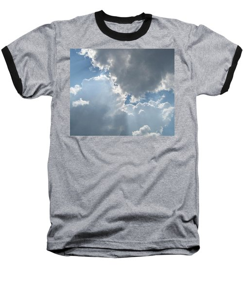 Clouds 1 Baseball T-Shirt by Barbara Yearty