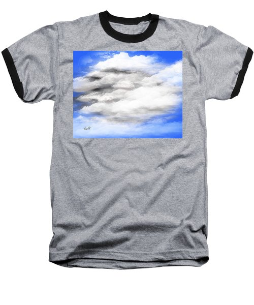 Baseball T-Shirt featuring the digital art Clouds 2 by Walter Chamberlain