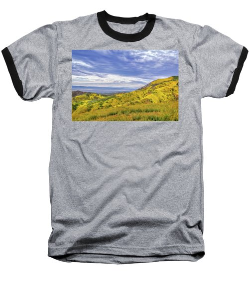 Baseball T-Shirt featuring the photograph Clouds Above Temblor Range by Marc Crumpler