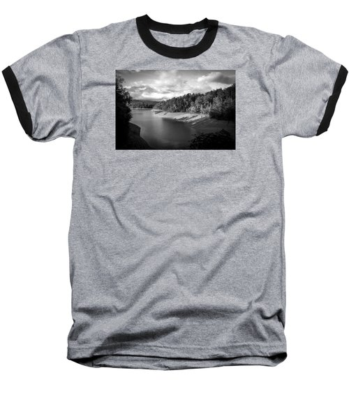 Clouds Above The Nantahala River In Nc Baseball T-Shirt by Kelly Hazel
