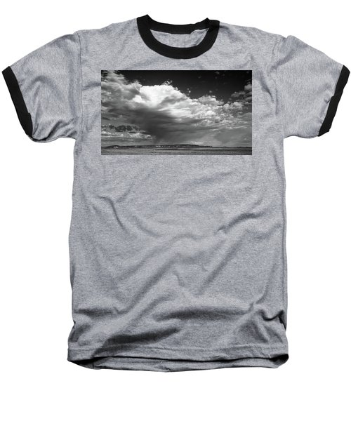 Clouds Along Indian Route 13 Baseball T-Shirt by Monte Stevens