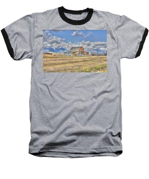 Clouds And Barn Baseball T-Shirt