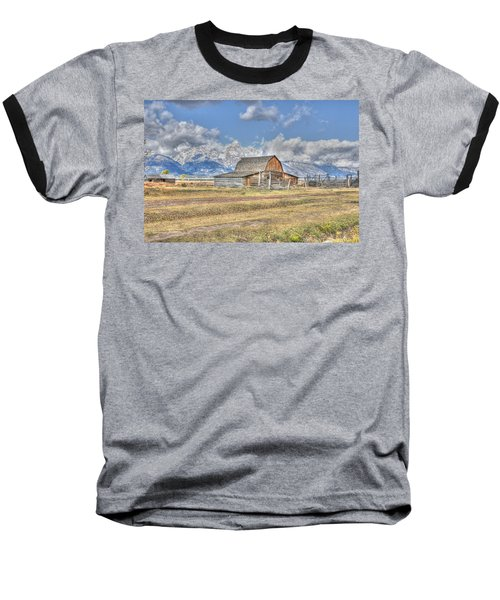 Clouds And Barn Baseball T-Shirt