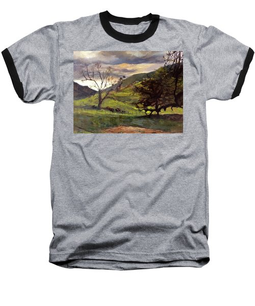 Clouds And Cattle Baseball T-Shirt