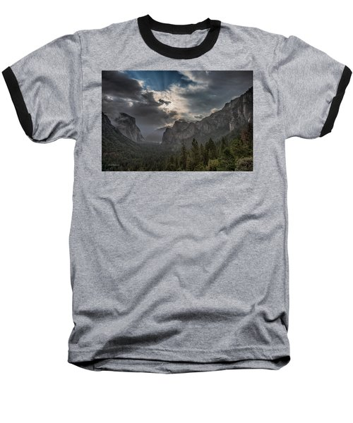 Clouds And Light Baseball T-Shirt by Bill Roberts