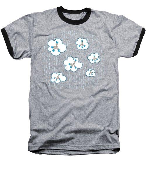 Clouds And Methane Molecules Pattern Baseball T-Shirt