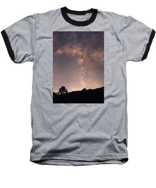 Baseball T-Shirt featuring the photograph Clouds And Milky Way by Wanda Krack