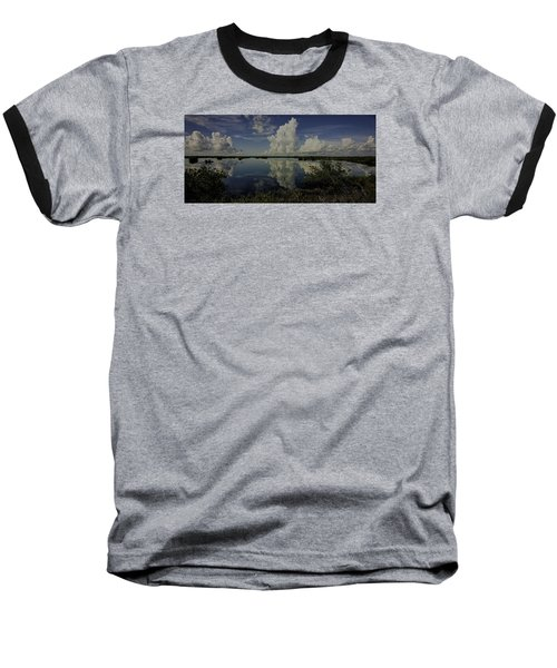 Clouds And Reflections Baseball T-Shirt by Dorothy Cunningham
