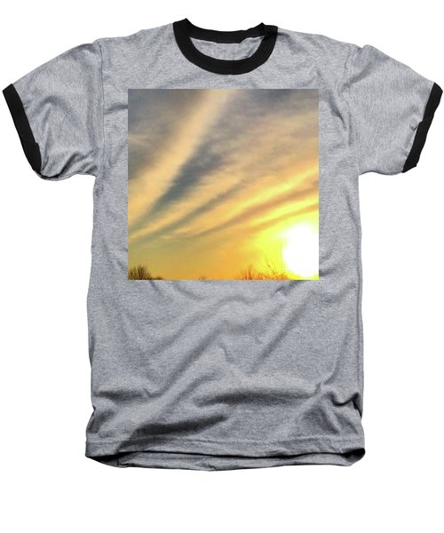 Clouds And Sun Baseball T-Shirt by Sumoflam Photography