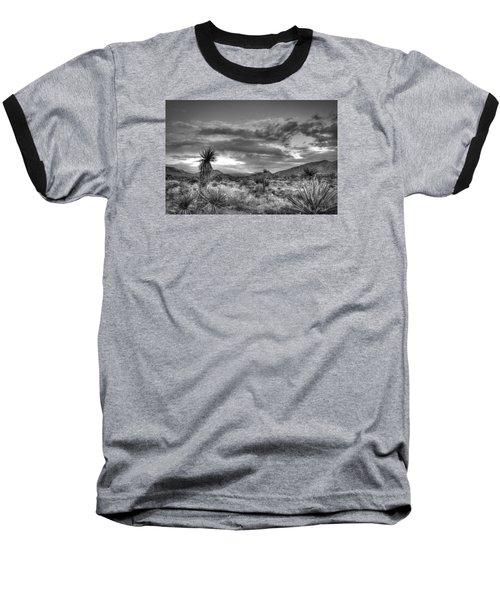 Clouds And Yucca Baseball T-Shirt