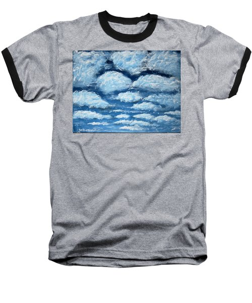 Baseball T-Shirt featuring the painting Clouds by Antonio Romero