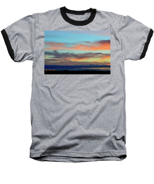 Clouds At Different Altitudes  Baseball T-Shirt by Lyle Crump