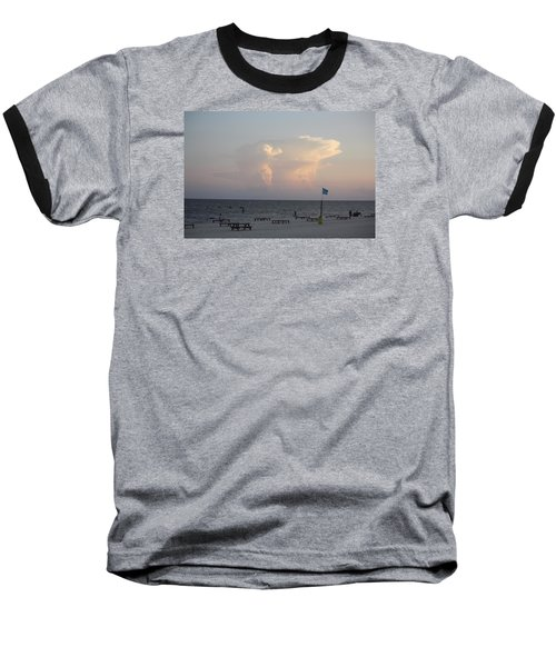 Baseball T-Shirt featuring the photograph Clouds At The Beach by Donna G Smith