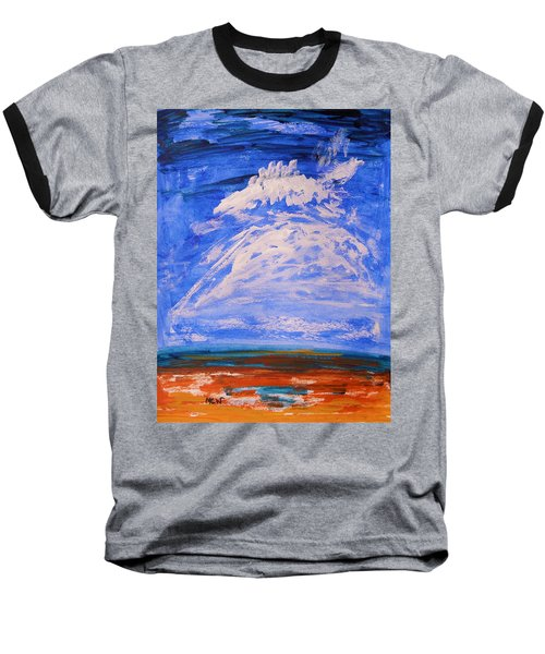 Baseball T-Shirt featuring the painting Clouds Dance by Mary Carol Williams