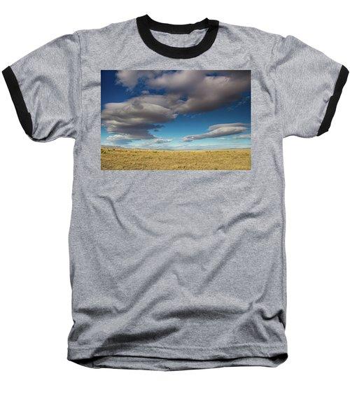 Clouds In Fields Oregon Baseball T-Shirt