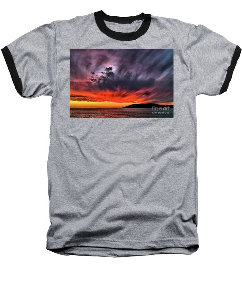 Clouds In Motion Before The Storm Baseball T-Shirt by Vivian Krug Cotton