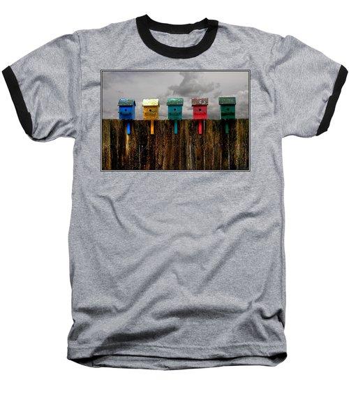 Clouds In The Flightpath Baseball T-Shirt
